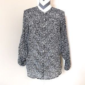 Anthropologie Holding Horses Printed Button Down